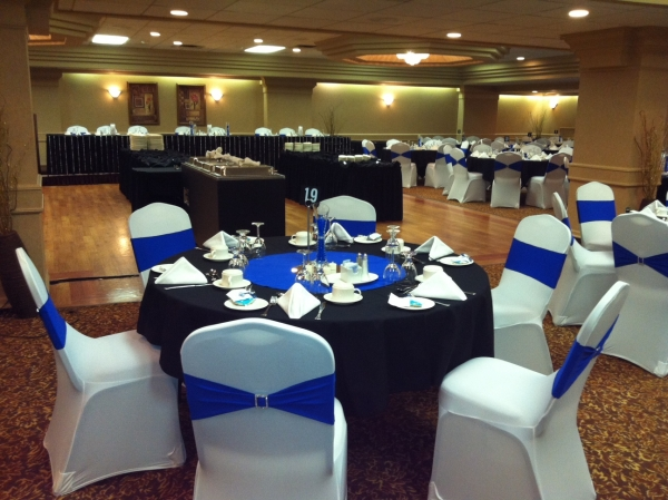Black White And Blue Wedding Decorations